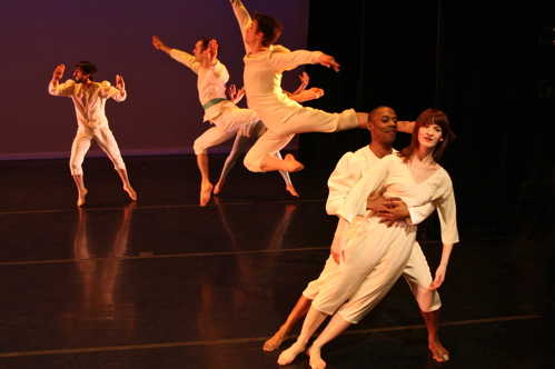 Jeremy 'Nuney' Stigler, Hope Davis and Douglas Dunn Dancers in 'Pulcinella'