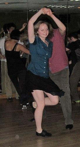 Swing dancing at Frim Fram