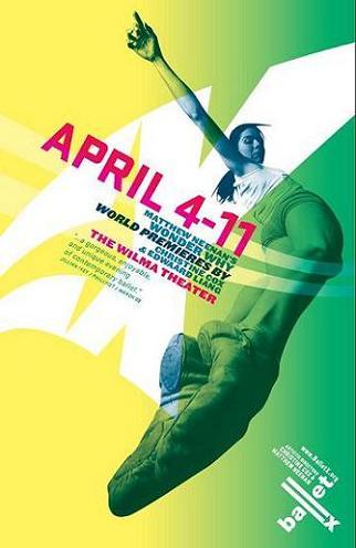 BalletX Spring Series 2009 poster. Dancer: Tara Keating.