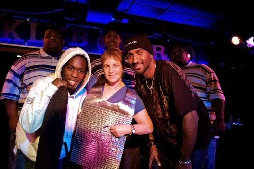 Laura Selikson, promoter of LETS ZYDECO with The Curley Taylor Band at Connolly's