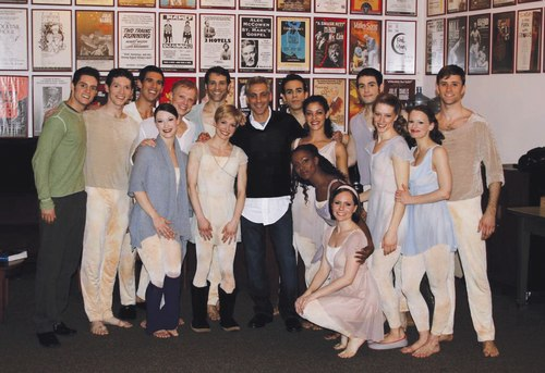 President Barack Obama's Chief of Staff Rahm Emanuel visits the Paul Taylor Dance Company backstage at the Kennedy Center for the Performing Arts in Washington D.C. after their performance on Saturday, March 28, 2009