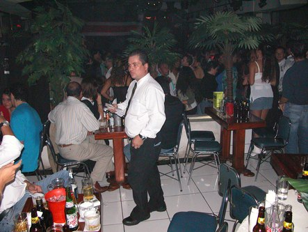One of Castro's Bar's attentive waiters