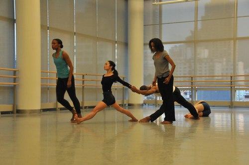 Martin Løfsnes' 'New Work' Dancers: Danelle Morgan, Yuko Giannakis, Sadira Smith, Jason Jordan, Troy Macklin