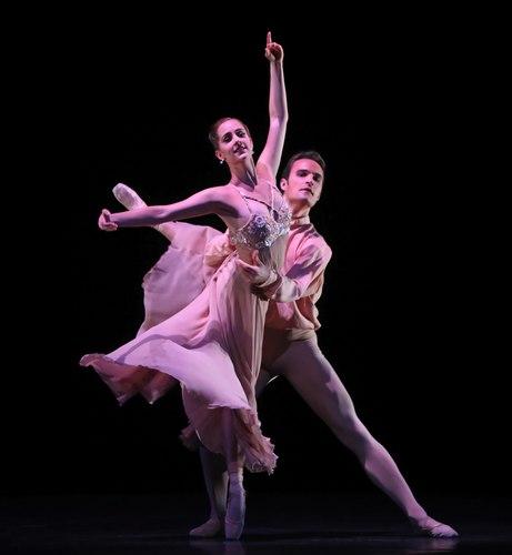 Houston Ballet's program: Of An Era Ballet: Nosotros choreographed by Stanton Welch Dancers: Michelle Carpenter and Nicholas Leschke
