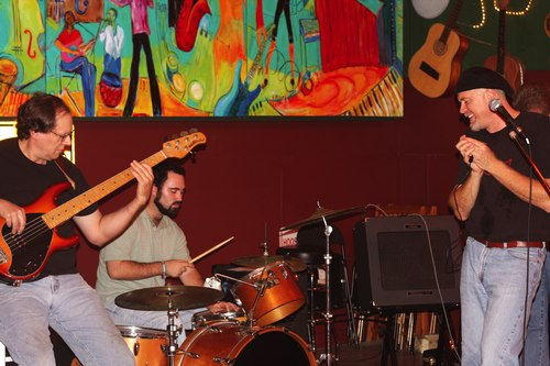 Especially nice shot of musicians at Players Pub on Blues Jam night