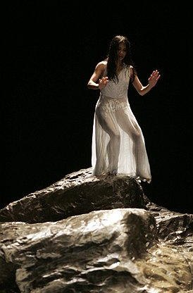 Bausch's VOLLMOND ('Full Moon') danced in a deluge of rain