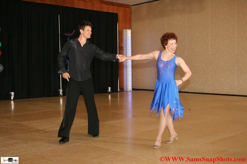 Tybalt Ulrich and Marilynn Larkin compete in ProAm Theater Arts at Disco America