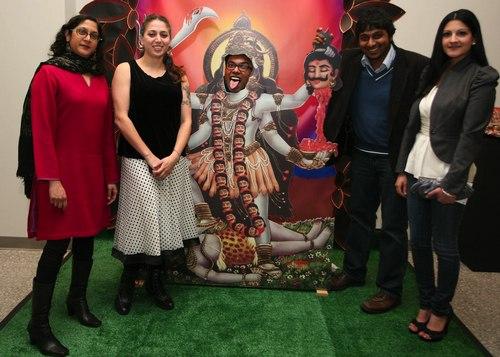 KALI painting and Artists of IAAC exhibit: Nidhi Jalan, Asha Ganpat, Satyakam Saha, Raghava KK & Sonia Chaudhary Courtesy MasalaJunction.com & IAAC