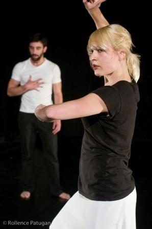 Brad Culver and Genevieve Carson in Arianne MacBean's 'Leaving (and other rabbit tricks)'